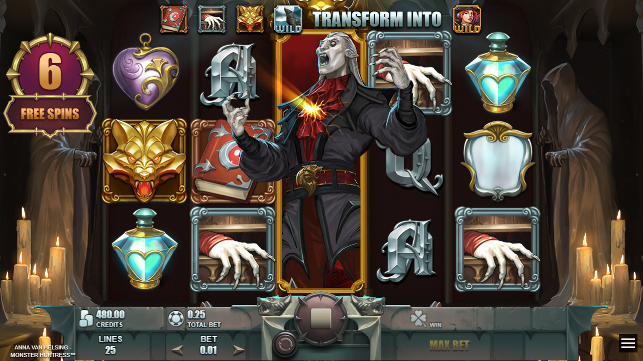 ANNA VAN HELSING - MONSTER HUNTRESS™ video slot Dracula's Banishment screenshot