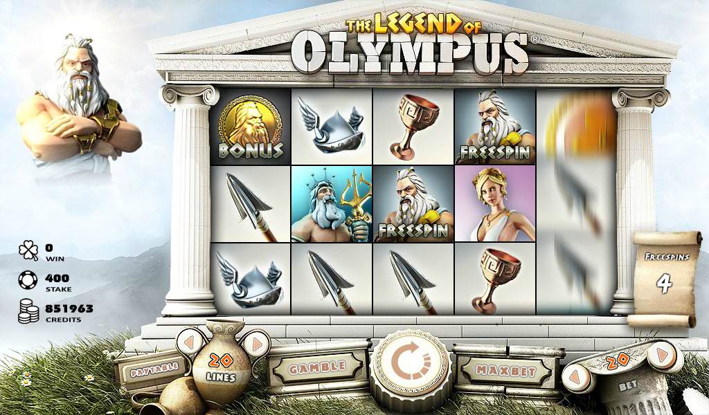 Legend of Olympus™ video slot free spins screenshot