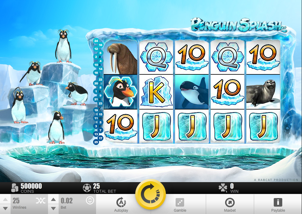Penguin Splash™ video slot base game screenshot