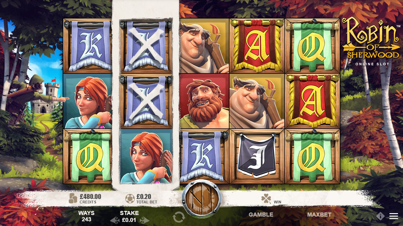 ROBIN OF SHERWOOD Online Slot™ video slot Royal Turning Feature screenshot